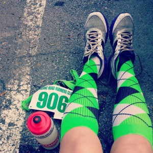 Rockin the socks at the Putnam County Classic 8 miler